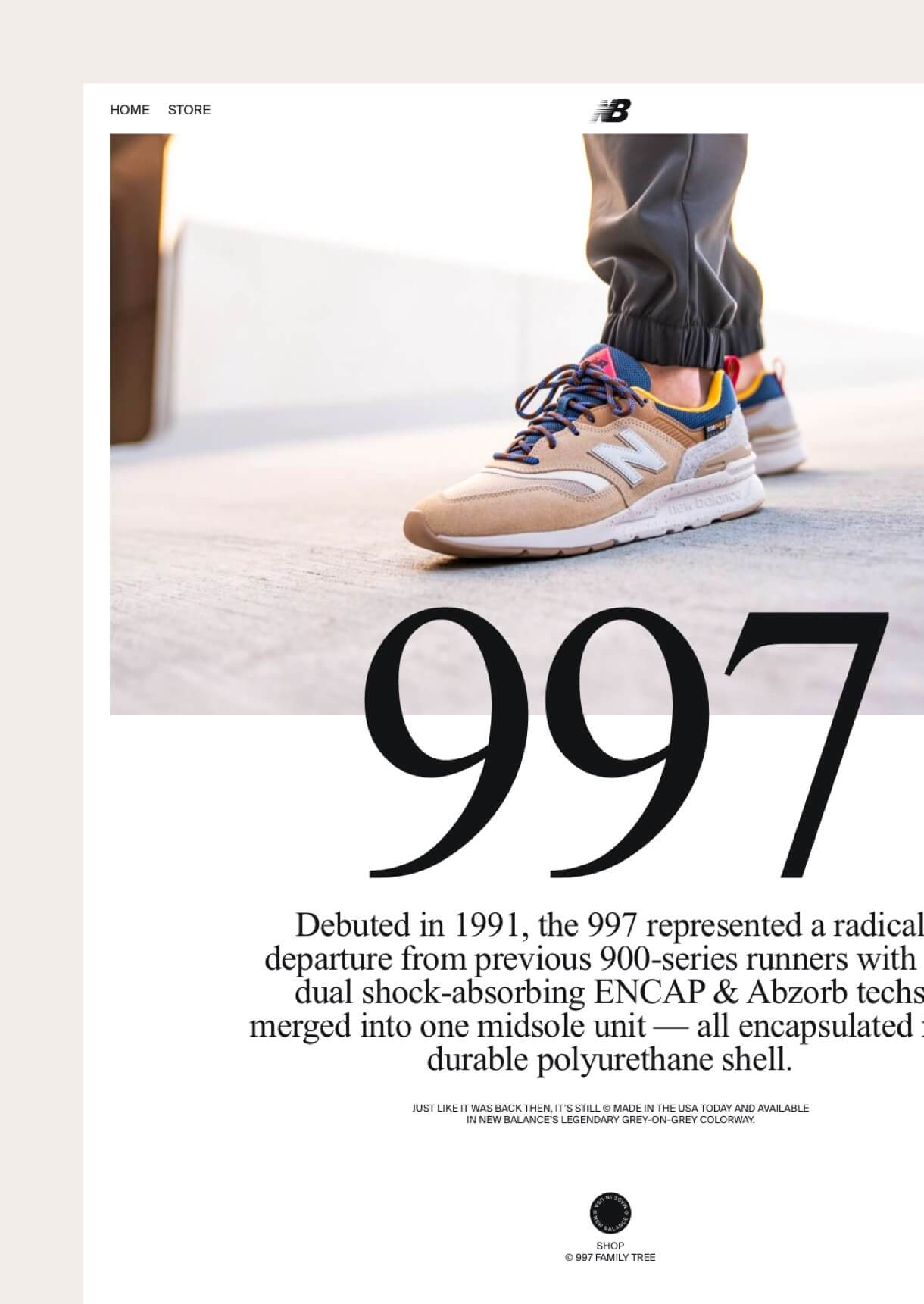 New Balance 997 design project image