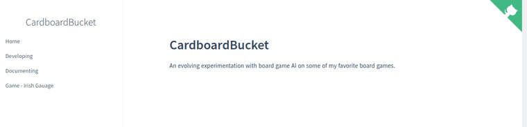 Docsify CardboardBucket Starting page