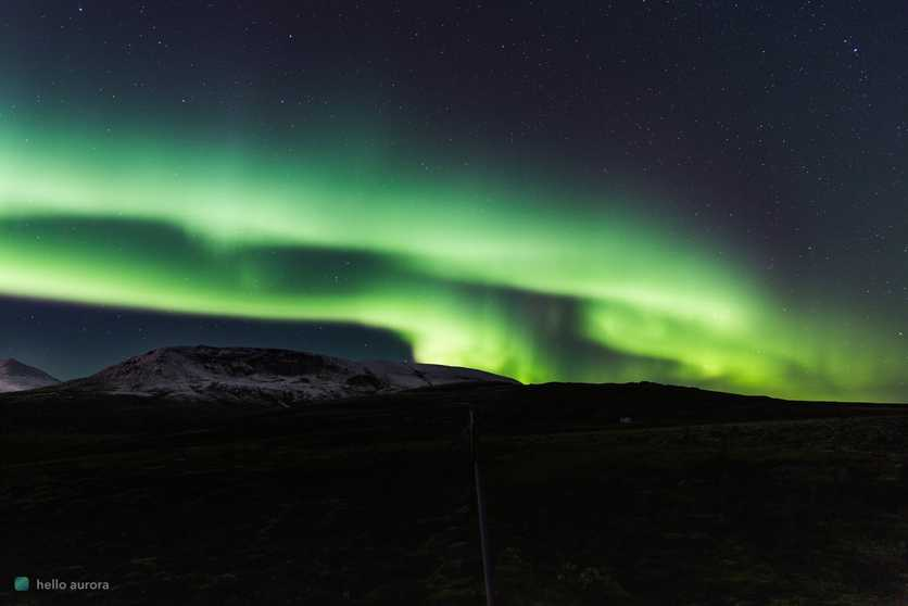 You can see the intensity of the Northern Lights better in a dark location