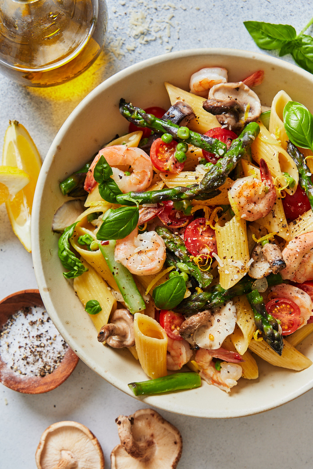 One Pot Shrimp Pasta Primavera