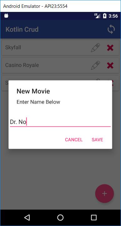 Add a movie via a new dialog