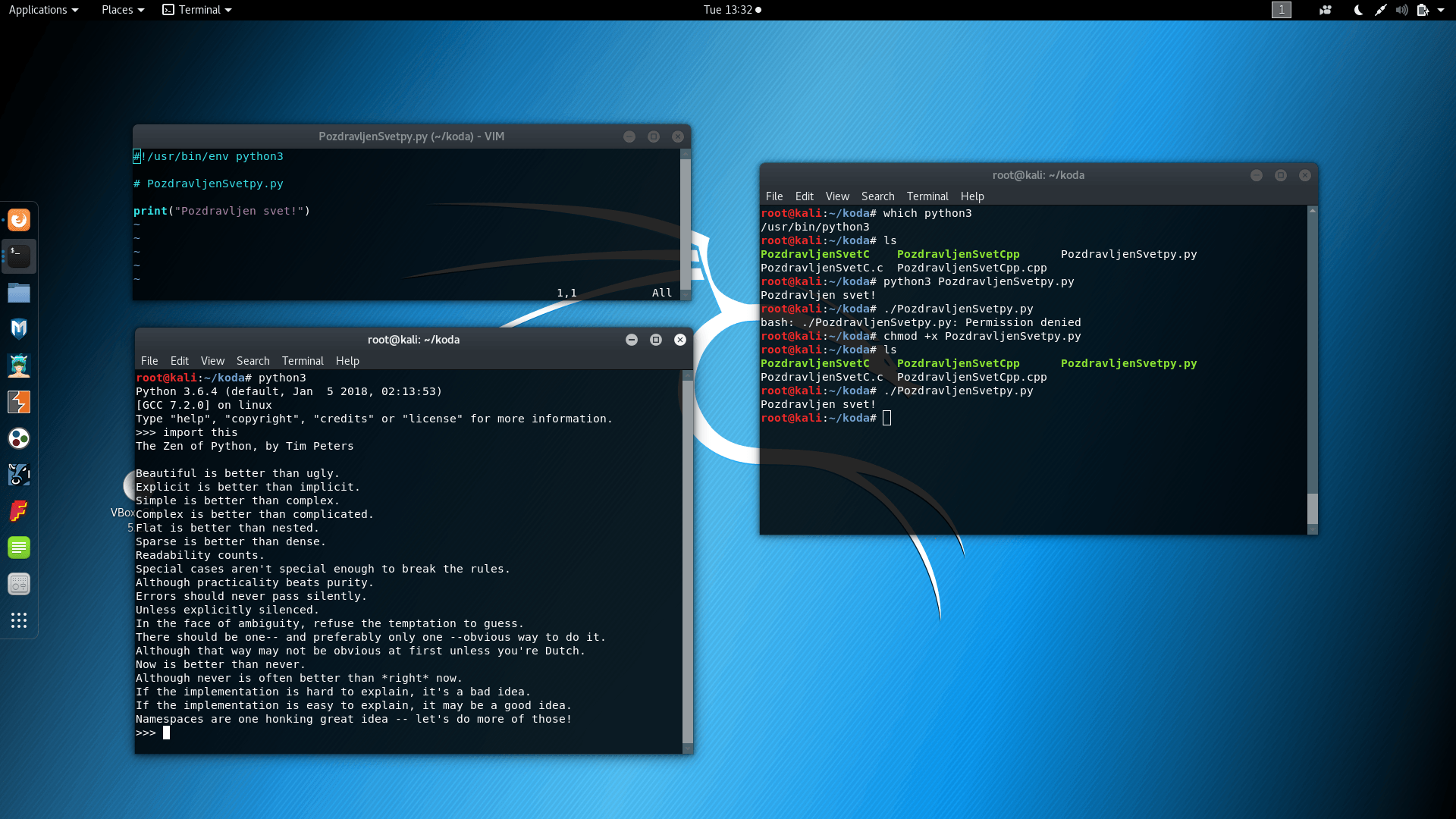 Slika 10: OSX in Linux Python3