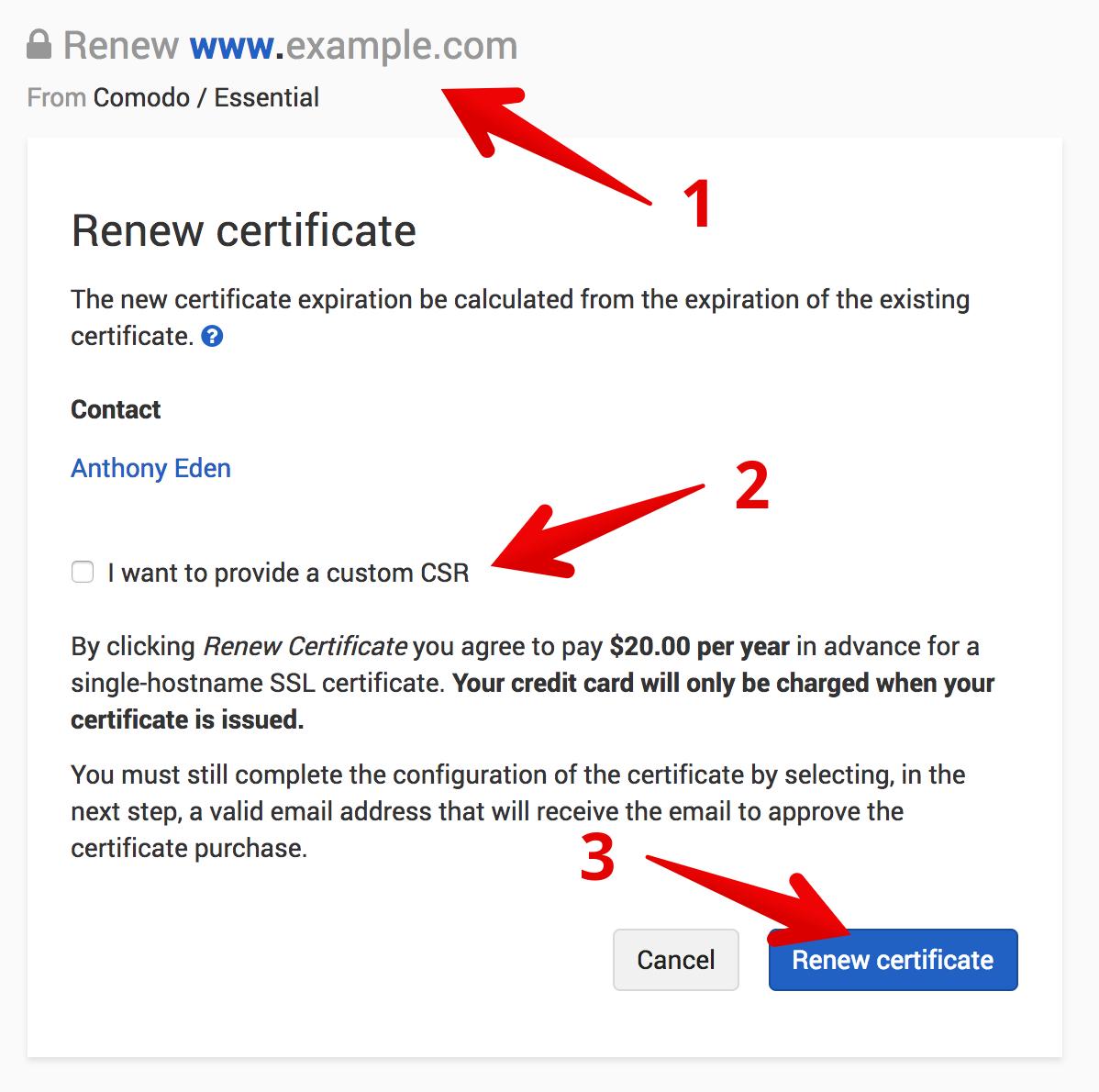 Renew a Certificate