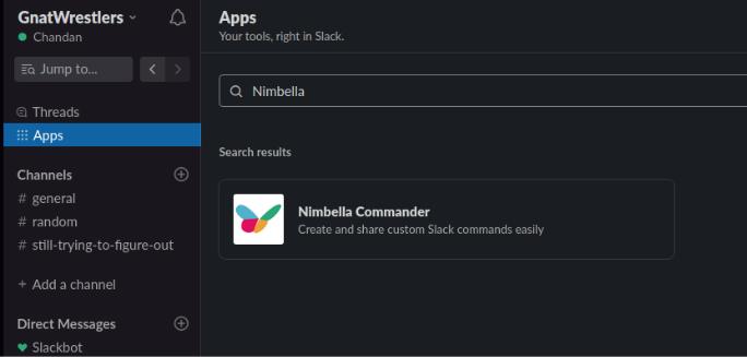 display time in slack by installing commander into slack