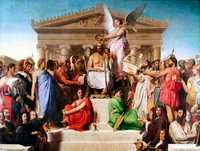Apotheosis of Homer, 1827 by Ingres