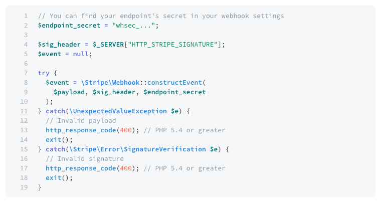 stripe webhook example