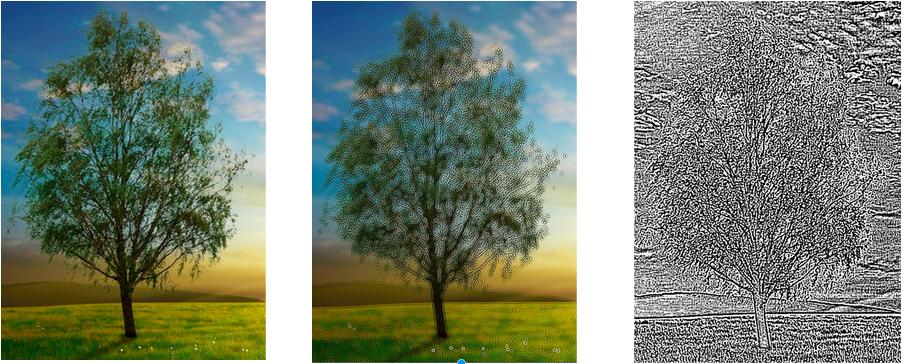 Uma imagem com diferentes efeitos