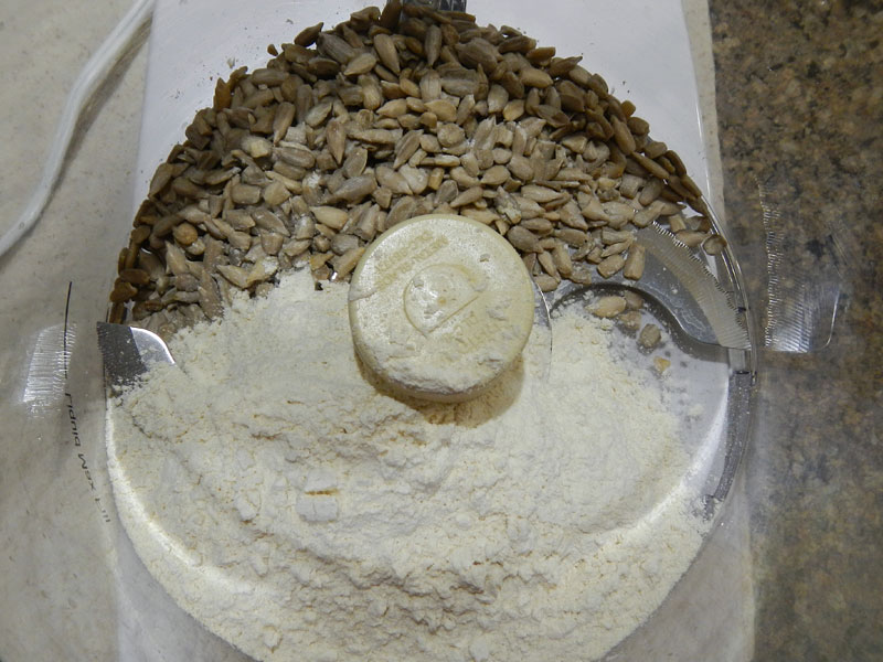 Flour and Seeds in Processor