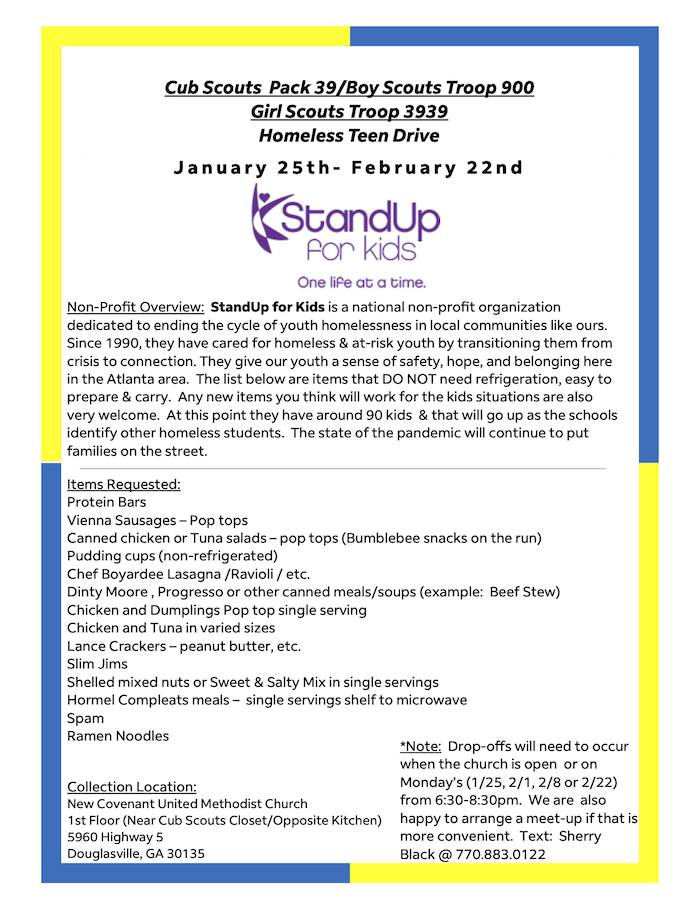 StandUp for Kids Flyer