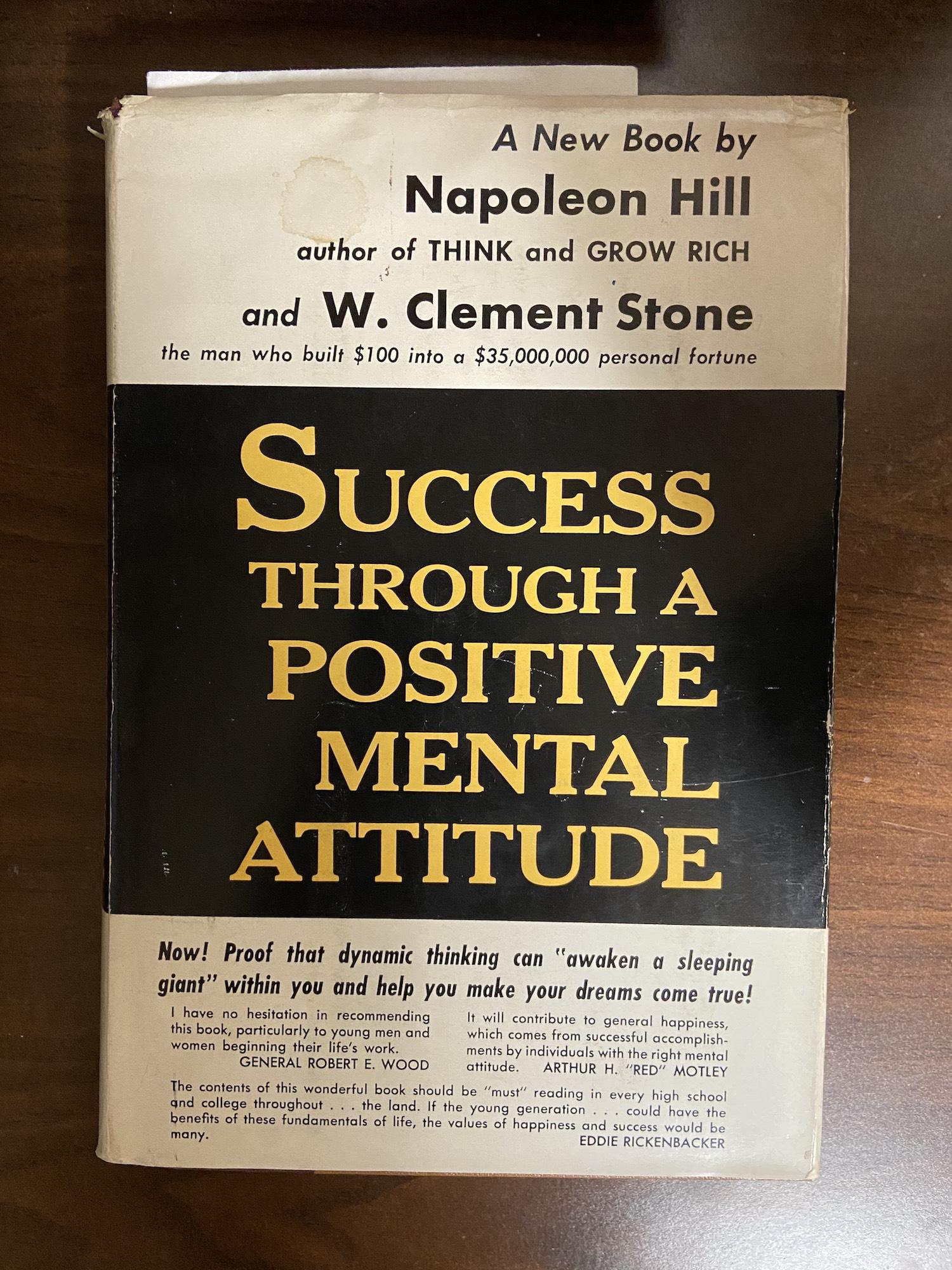 The cover of Success Through a Positive Mental Attitude.