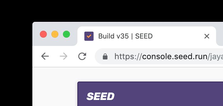 Seed build status in favicon