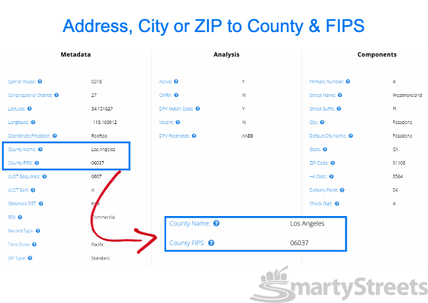 Find county by ZIP Code step 1 - Visit single address demo page
