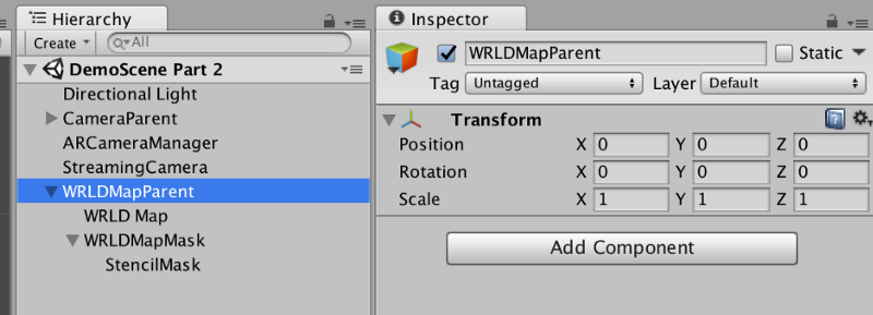 Creating a parent for WRLD Map and WRLDMapMask