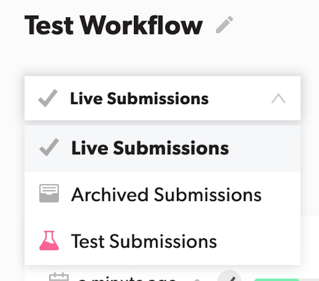 All Workflow Options