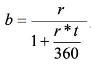 Fórmula para calcular la tasa de descuento de un CETE