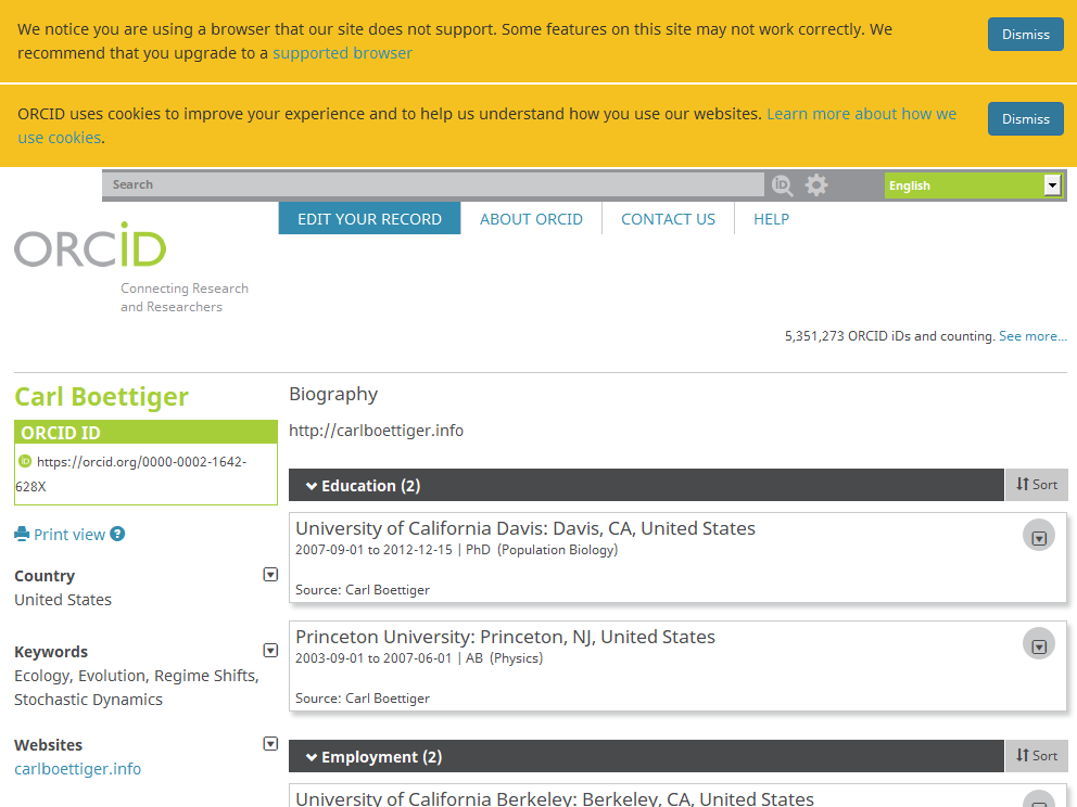 screenshot of <https://orcid.org/0000-0002-1642-628X>