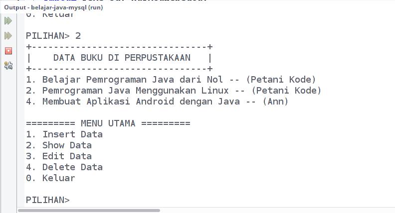 Program CRUD Java dan MySQL