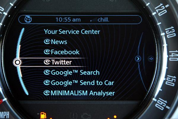 Read tweets on your speedometer!