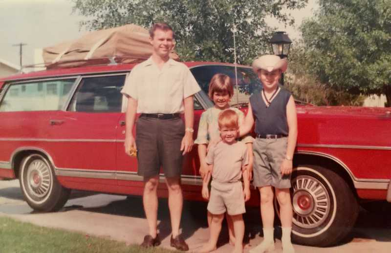 Dad's station wagon, loaded and ready to go camping