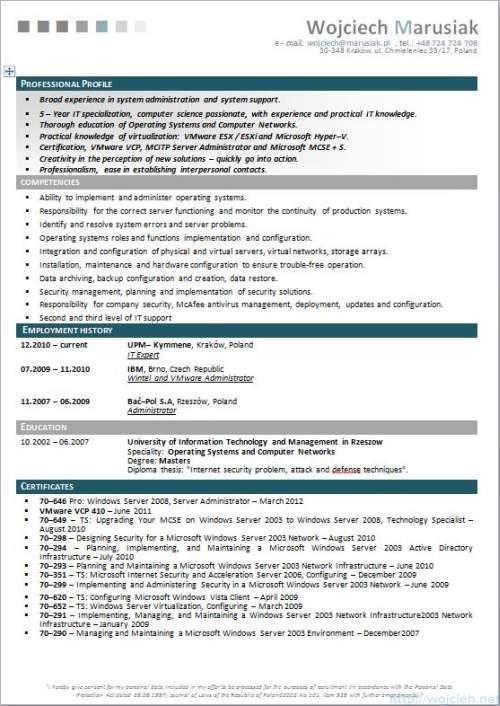 CV Strona 1