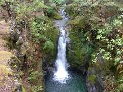 Waterfall near the hut