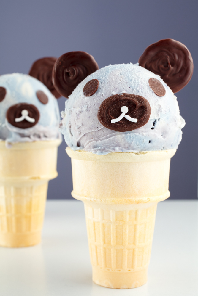Vegan Teddy Bear Ice Cream Cones