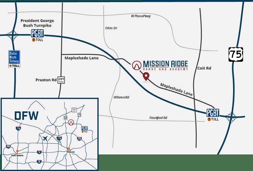 Mission Ridge-DFW Map
