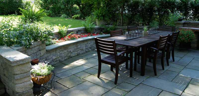 outdoor dining landscape architecture