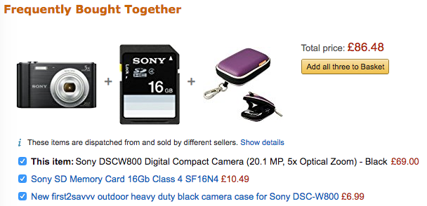 Amazon frequently bought