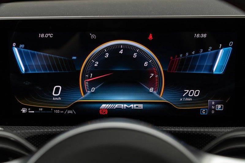 "Mercedes-Benz A-Klasse A35 AMG 306pk 4Matic AeroPack Panoramadak Nightpakket Schaalstoelen+Memory Widescreen Burmester AmbientLight Multibeam RideControl SuperSportStuur ComandOnline Full-Led 19"" Parktronic Camera Pdc afbeelding 21"