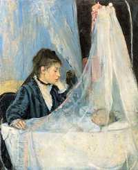 'Le Berceau (The Cradle)' painted by Berthe Morisot in 1872, Musée d'Orsay