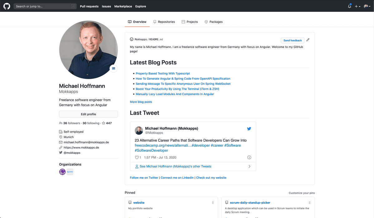 How I Built A Self-Updating README On My Github Profile Image