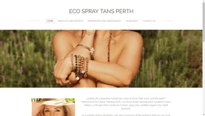 Desktop screenshot of Eco Spray Tans Perth