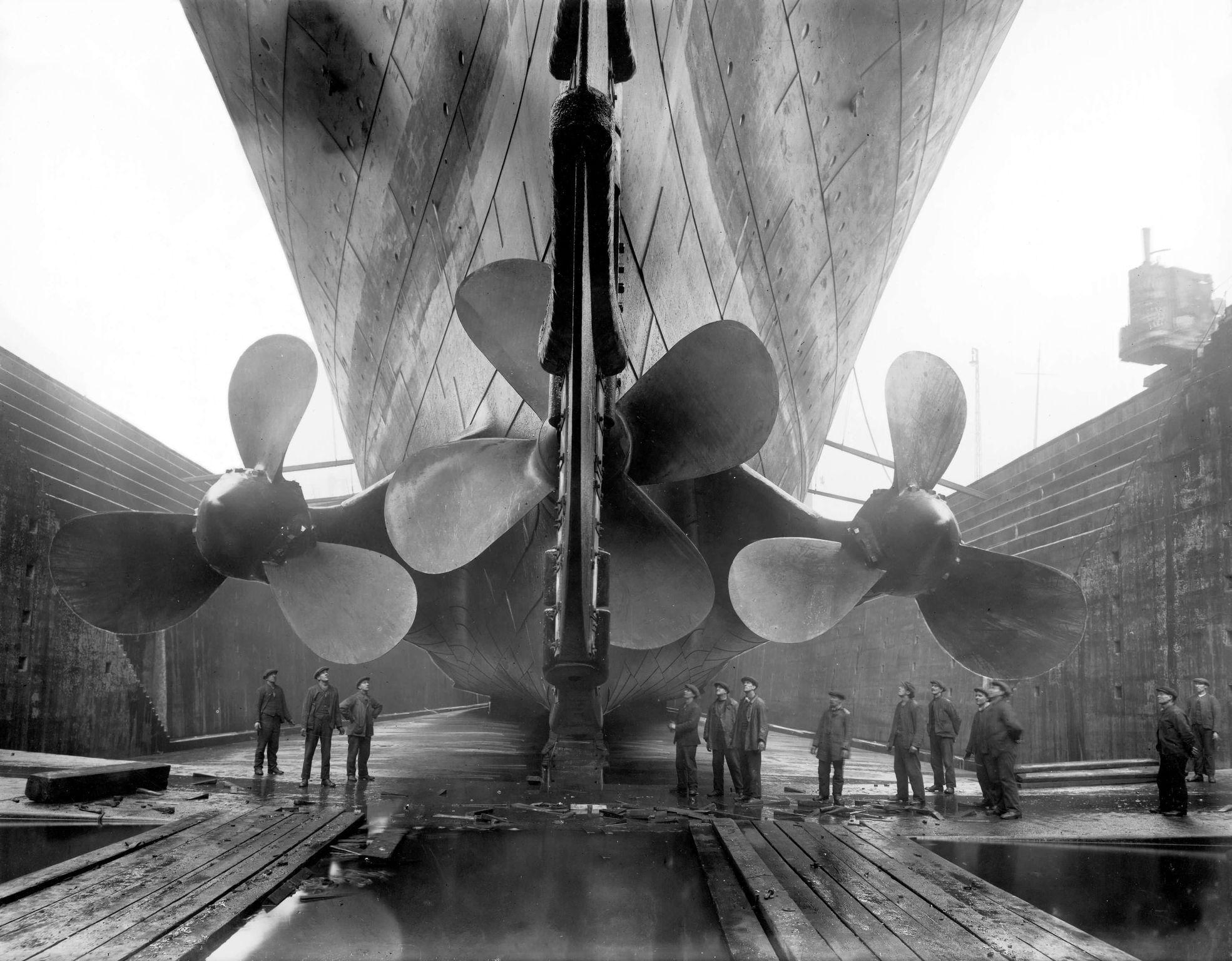 Титаник в сухом доке Harland & Wolff Shipyard. Источник: ru.wikipedia.org