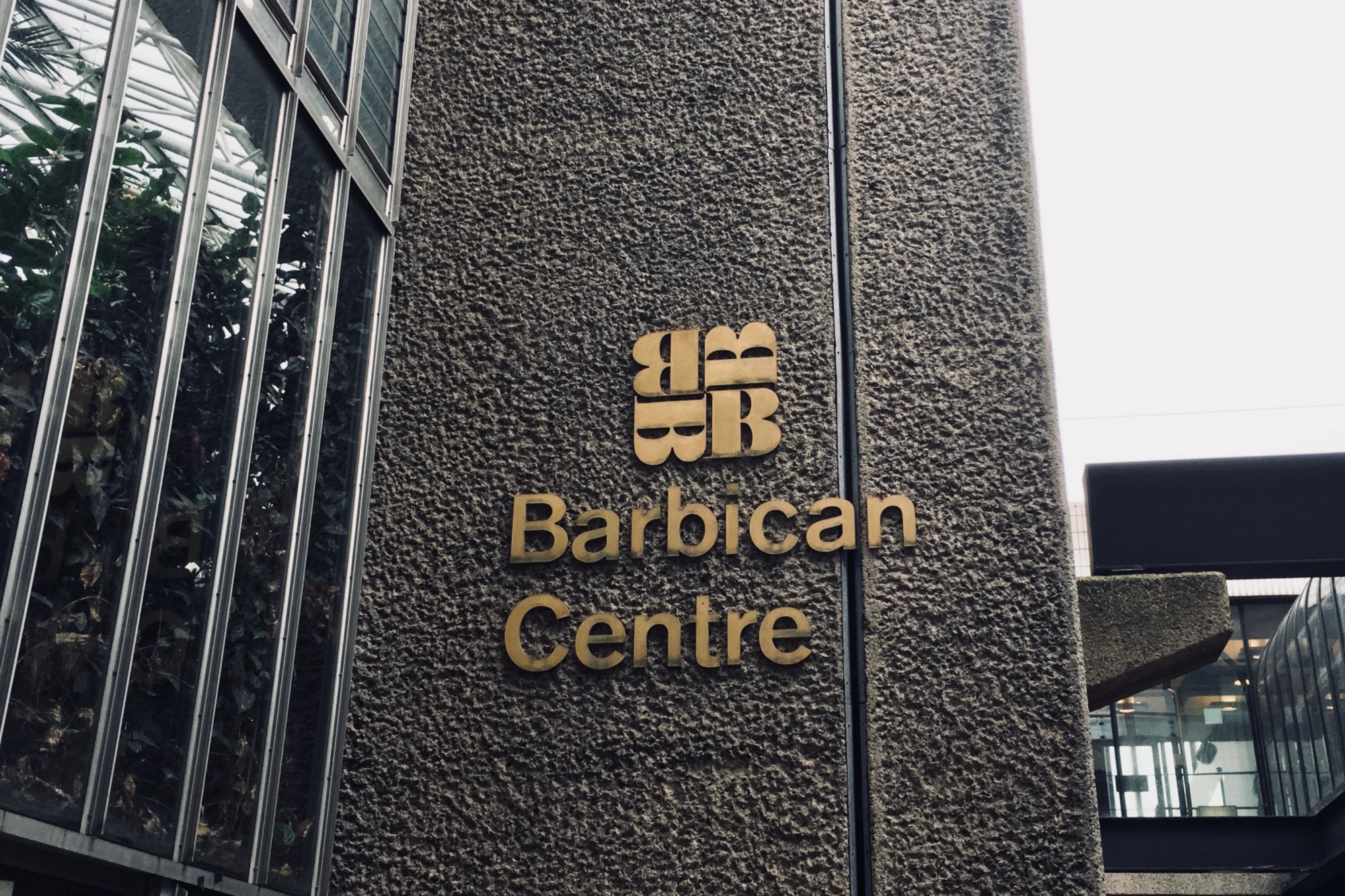 The Barbican Centre entrance — The venue for the excellent Leading Design Conference