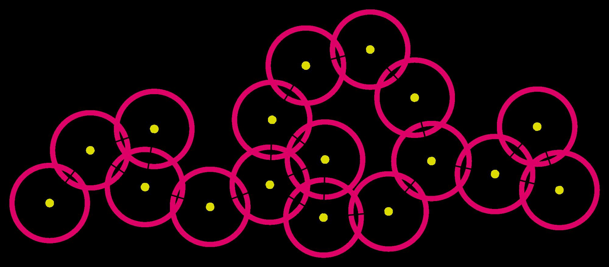 Stilisierte Zeichnung eines Mesh-Netzwerks