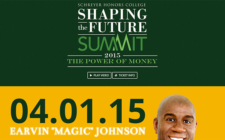 Schreyer Honors College Shaping the Future Summit homepage