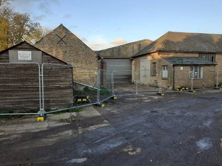 Temporary Fencing for Old Farm Building Security