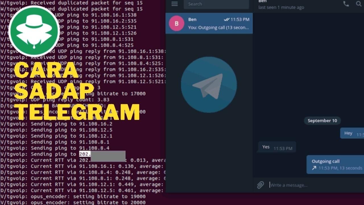Cara Mudah Sadap Aplikasi Chat Telegram