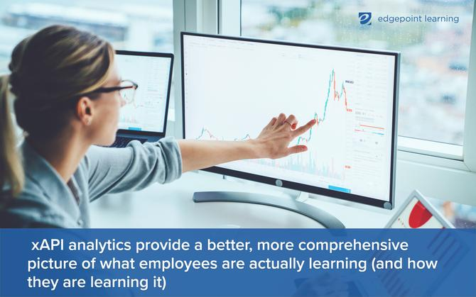 xAPI analytics provide a better, more comprehensive picture of what employees are actually learning (and how they are learning it)
