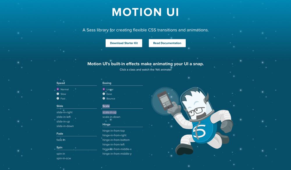 Motion UI interface