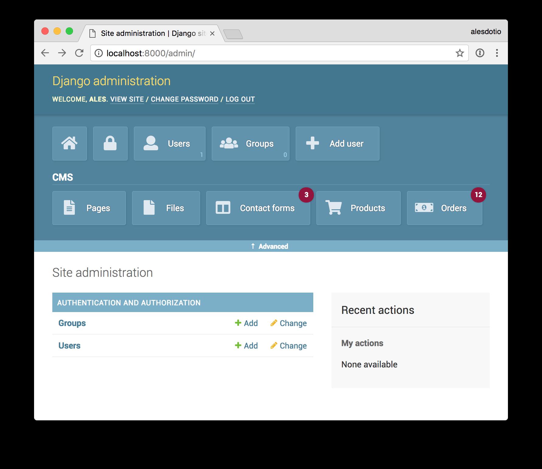 django amin system for databases