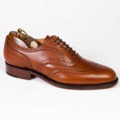 sanders london brown leather broguelg