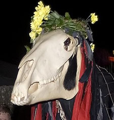 penglaz the penzance obby oss for golowan maney day
