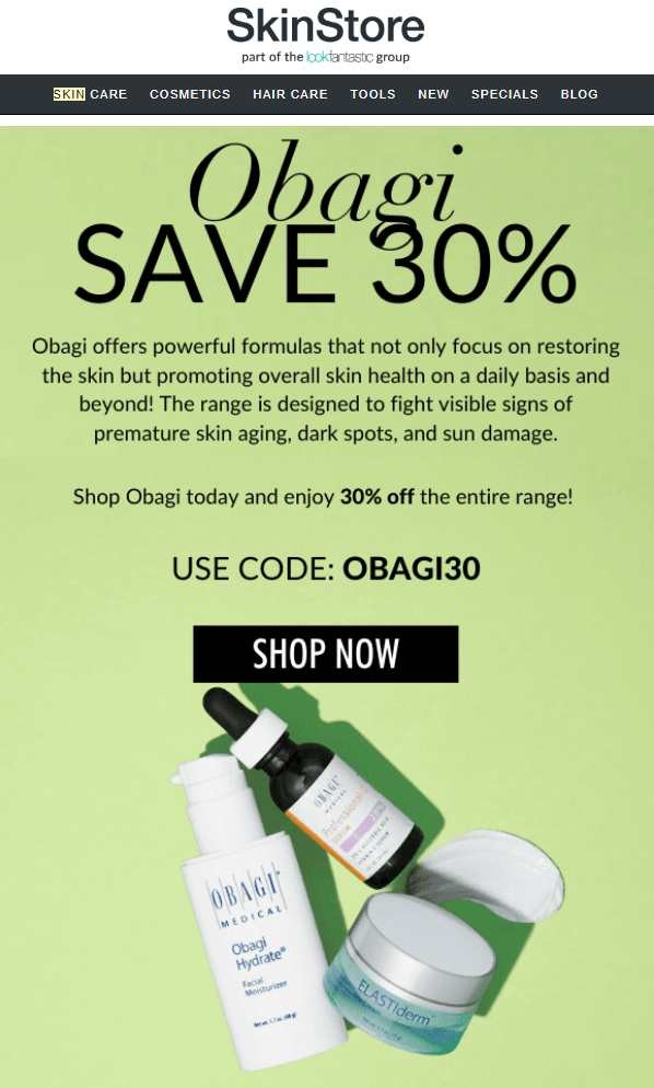 Obagi offers