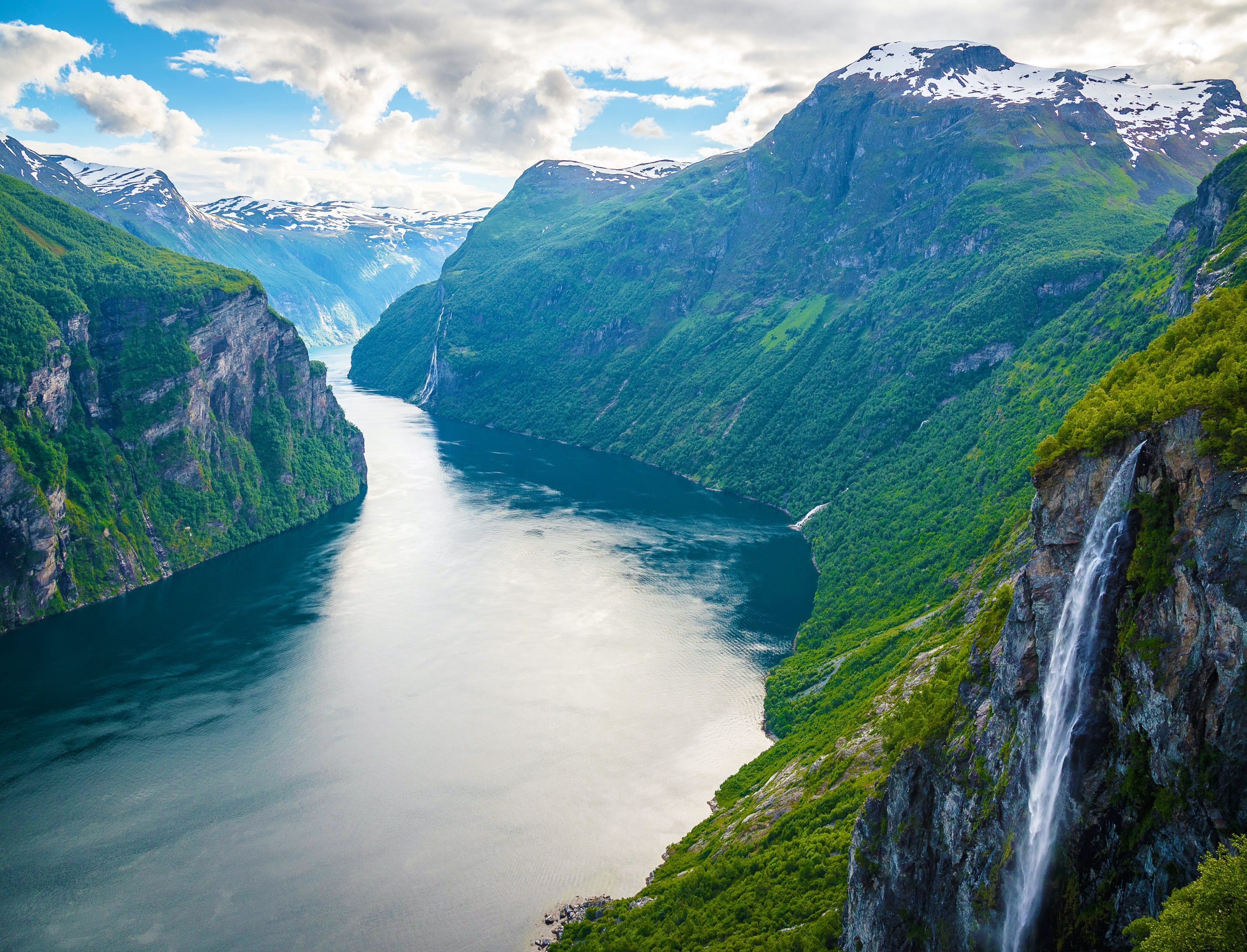 The location for BREEN hotel, the Geirangerfjord in Norway.