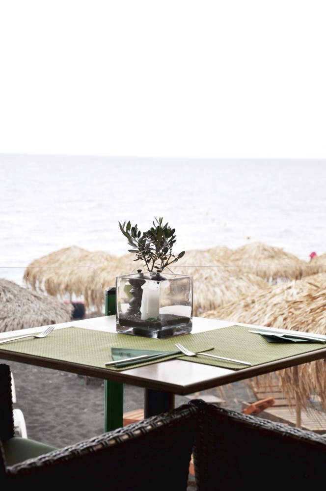 Santorini Black Beach Kamari Navy's Green Kitchen