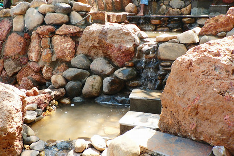 Waterfall under construction