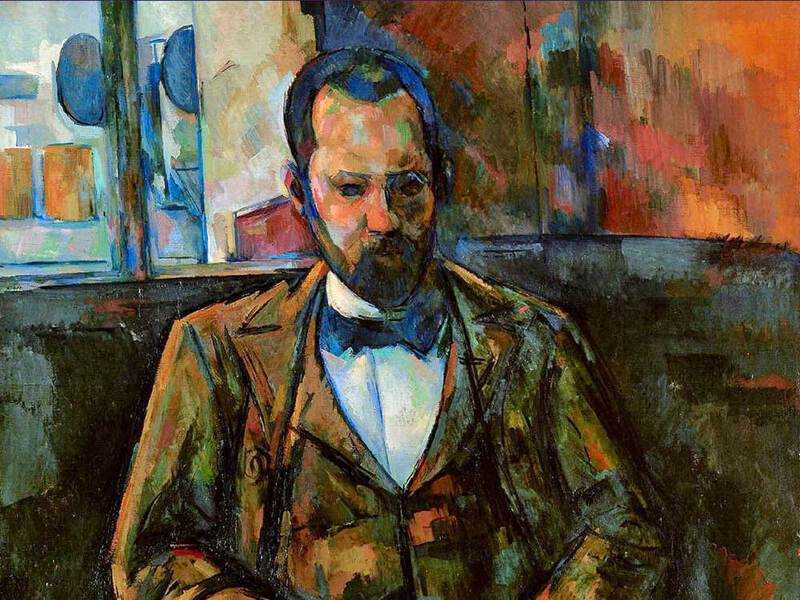 Cezanne's striking portrait of the dealer Ambroise Vollard.
