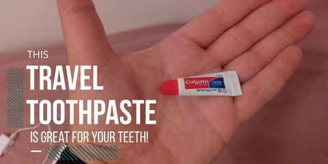 With this travel-sized toothpaste, you can go, see the world, and return home with clean teeth and fresh breath without worrying about space or weight.